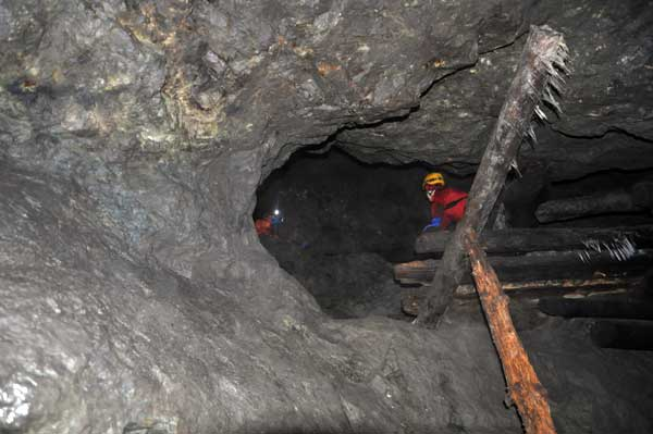 Добычной забой Воскресенского рудника