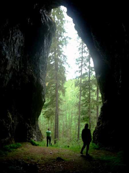 Вход в пещеру Чертово Городище (Сосьва)