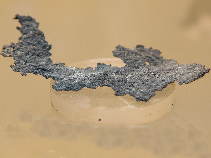 Серебро самородное. Шахта Покро, пос. М. Жезказган, г. Жезказган, Казахстан
