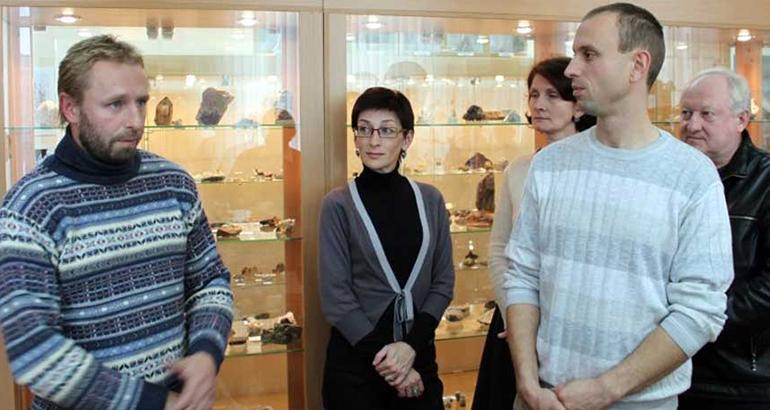 В «Штуфном кабинете» побывал гость из музея Ферсмана РАН