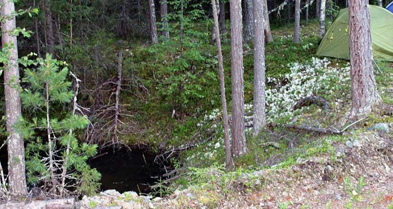 Cтаринный рудник в окрестностях Княсьпинских озер