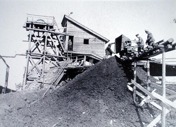 Одна из первых малых наклонных шахт СУБРа